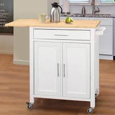 wood top kitchen island highland dunes vina kitchen island with wood top reviews wayfair