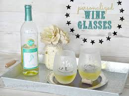 diy monogram wine glasses diy personalized wine glasses hometalk