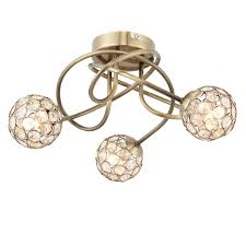 Antique Brass Ceiling Light Antique Brass Effect 3 L Ceiling Light Departments