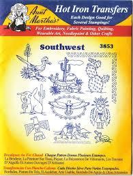 amazon com southwest motifs aunt martha u0027s iron embroidery