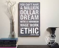 Quote Signs Home Decor by Success Quote Sign You Can U0027t Have A Million Dollar Dream With A