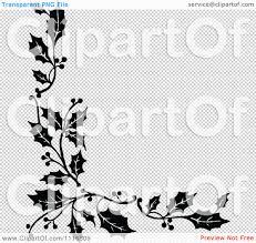 halloween border transparent background clipart retro vintage black and white corner border of christmas