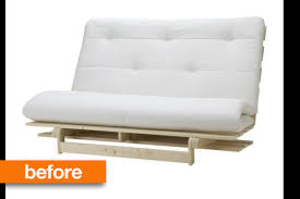 before u0026 after ikea futon graduates from college apartment therapy