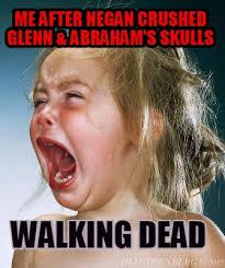 Walking Dead Meme Generator - meme creator me after negan crushed glenn abraham s skulls
