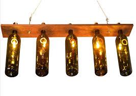 Wine Bottle Light Fixtures Decor U0026 Tips Wine Bottle Lights Diy With Reclimed Wood For Wine