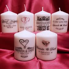 candle wedding favors personalized wedding favors awesome candles by you