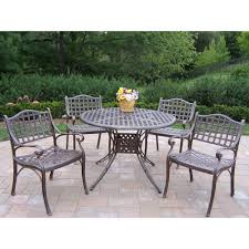 oakland living elite 5 piece patio dining set 1102 1109 5 ab the