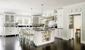 kitchen peninsula ideas large concrete tile floor single bowl sink