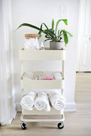 Ikea Kitchen Cabinets Used For Bathroom by 60 Smart Ways To Use Ikea Raskog Cart For Home Storage Digsdigs