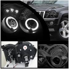 jeep black headlights spyder 2005 2007 jeep grand cherokee headlights