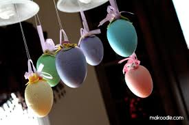 hanging easter eggs decor makoodle