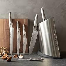 kitchen knives block set global sai 7 knife block set williams sonoma