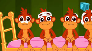 10 Monkeys Jumping On The Bed Five Little Monkeys Jumping On The Bed Children Nursery Rhyme