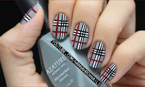 plaid nail art for girls u0027 life magazine youtube