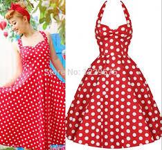 online shop new women u0027s pin up dress 1950 u0027s vintage polka dots