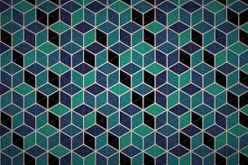 Wallpaper Patterns by Free Hexagonal Cube Mesh Wallpaper Patterns