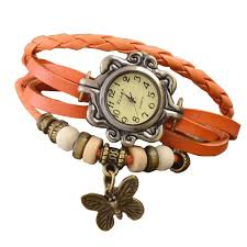 bangle bracelet watches images Buy vintage weave wrap orange leather wings women bangle bracelet jpg