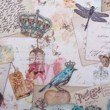 Shabby Chic Upholstery Fabric by Postcard Fabric Ebay