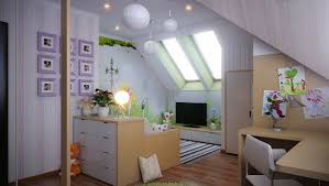 attic ideas interior beautiful kids bedroom pink and white stripe colorful