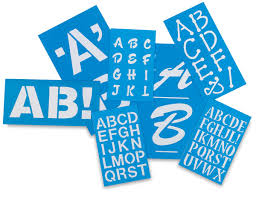 westcott c thru betterletter plastic letter stencils blick art