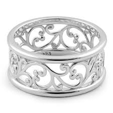 rings sterling silver images Sterling silver vines band ring for sale sterling silver rings png
