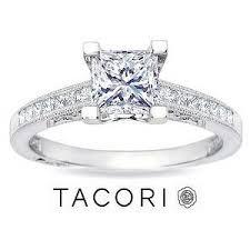 platinum princess cut engagement rings 1 carat princess cut tacori engagement ring platinum
