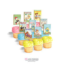 storybook themed baby shower printable cupcake toppers for storybook themed party or baby