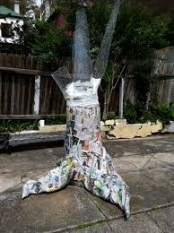 in clay how to make a paper mache tree