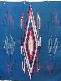 Chimayo Rugs 1920s Chimayo Rug Blanket Weaving Textile With Whirling Log Motif