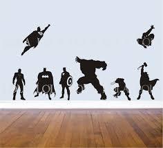 superhero wall decals set avengers hulk captain superhero wall decals set avengers hulk captain america wolverine