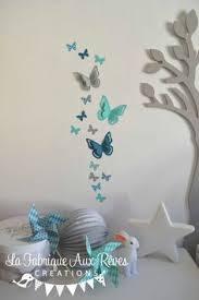 chambre bébé turquoise décoration chambre bébé étoiles moulins à vent papillons turquoise