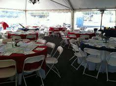 inexpensive table linen rentals corporate luncheon atlanta rental white black resin chair