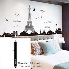 Eiffel Tower Wall Decals Romantic Cute And Trendy Paris Themed Home Decor
