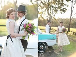 50 S Wedding Dresses 50s Mint U0026 Cream Vintage Holden Wedding Car With Tea Length