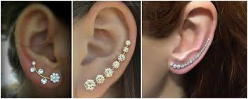 earrings that go up the ear your guide in how to wear ear piercings