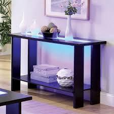 Coffee Tables With Led Lights Furniture Of America Lumi Led Lights Espresso Sofa Table Free