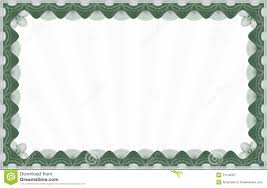 green certificate template stock vector image of banner 31149307