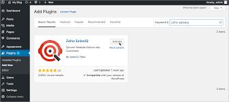 integrate zoho salesiq with wordpress plugin