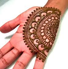 best half mandala henna design henna mehndi by amrita