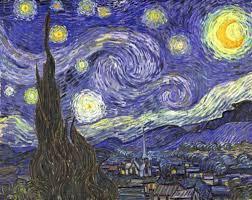 tableau de gogh la chambre reproduction de gogh la nuit étoilée starry