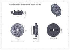 turbina plástica bomba de agua kawasaki kdx 200 modelo 1994