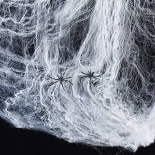20g white spider web u0026 2 spiders lights4fun co uk