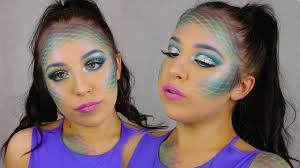Cleopatra Makeup Tutorial Halloween Costume Ideas Youtube Majestic Mermaid Halloween Makeup Tutorial Sarah Fritz Youtube