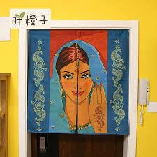 chambre style asiatique rideaux inde déesse coton tissu rideau sud est asiatique style