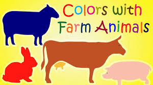 Orange Colors Names Learn Colors With Farm Animals Learn Farm Animals Names And