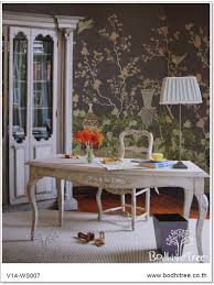 purple chinoiserie wallpaper and fabric