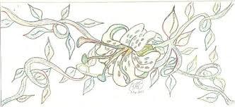 flower on vines drawing candigirlc 2017 jul 11 2013