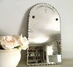vintage frameless beveled mirror vintage mirrors vintage