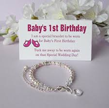 baby s 1st birthday gift bracelet baby to growing