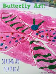 mini monets and mommies spring butterfly flower print making for kids